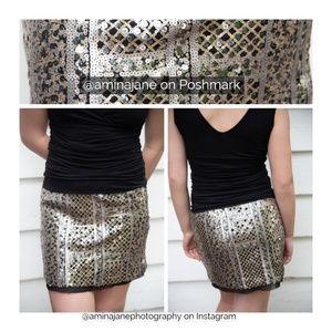 Dresses & Skirts - SKIRT 🌿 Shimmery sequin / black mini skirt
